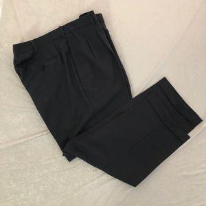 SAVANE Dress Slacks, Pleated and Cuffed, 42 x 29